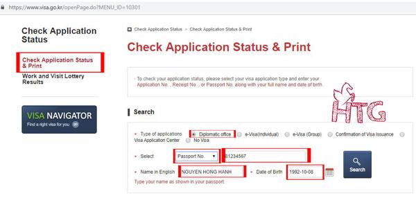 Cách xin visa Hàn Quốc tự túc